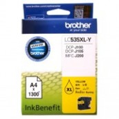 Brother LC-535XLY Yellow Genuine Original Printer Ink Cartridge